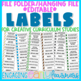 Creative Curriculum File Folder/Hanging File Labels