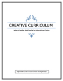 "Creative Curriculum Interest Centers ""Letters to Families"""