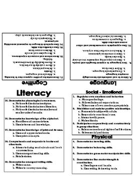 Creative Curriculum Objectives & Domain Cards