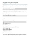 Creative Curriculum Preschool Daily Lesson Plan
