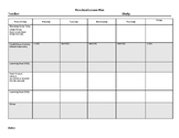 Creative Curriculum Preschool Lesson Plan Template