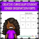 Creative Curriculum Preschool Observation Forms