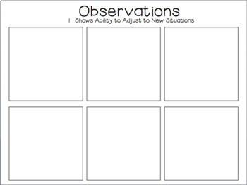 Creative Curriculum Preschool Observation Forms