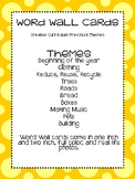 Creative Preschool Curriculum Word Wall Cards