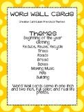 Creative Curriculum (Preschool) Word Wall Cards