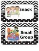 Creative Curriculum Schedule editable--black and white border
