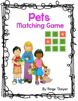 Creative Curriculum/Tools of the Mind Pets and Vet Matching Game