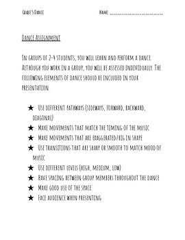 Creative Dance Assignment