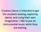 Creative Dance Task Cards