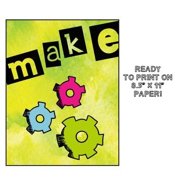 Creative Design Process Poster Pack: Think, Make, Improve