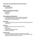 Creative Drama- Intro to Creative Movement Primary