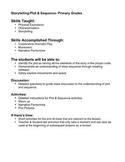 Creative Drama- Plot & Sequence- Primary