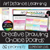 Creative Drawing Choice Boards | Art Distance Learning