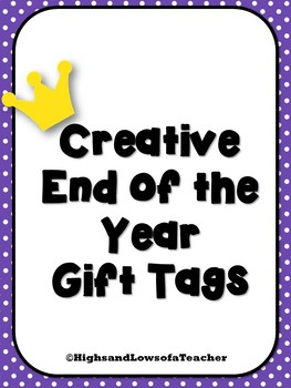 Creative End of the Year Gift Tags (Maze, Anchor, Crown)