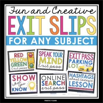 Exit Slips Teaching Resources | Teachers Pay Teachers