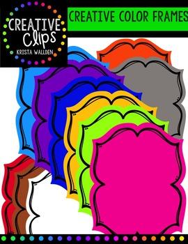 Creative Frames {Creative Clips Digital Clipart}