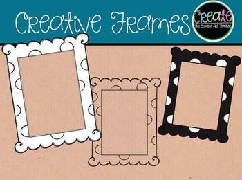 Creative Frames - Digital Clipart