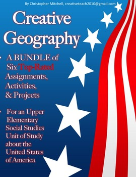 Creative Geography Assignments Bundle about the United States of America