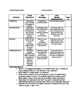 Creative Group Project Prompt and Rubric