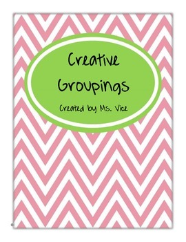 Creative Grouping Cards for Students