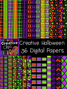 Creative Halloween Papers {Creative Clips Digital Clipart}