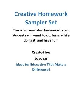 Creative Homework Sampler Set
