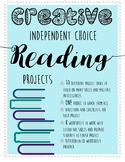 Creative Independent Novel Reading Projects