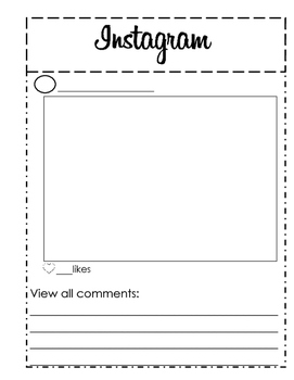 Handout Templates | Creative Instagram Handout Templates By Ashlee Brown Tpt
