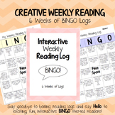 Weekly Reading Log BINGO