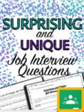Surprising & Unique Job Interview ?'s - Special Education H.S. (Print/Google)