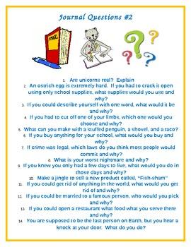 Creative Journal Questions