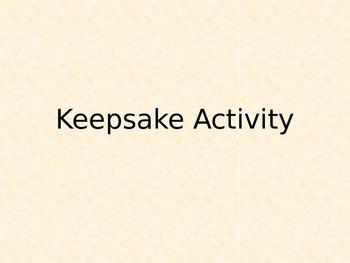 Creative Keepsake Activity (Cheap, Artistic, Social, Year-End)