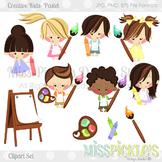 Creative Kids Clipart Set- Pastel