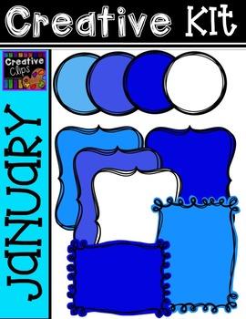 Creative Kit: JANUARY {Creative Clips Digital Clipart}
