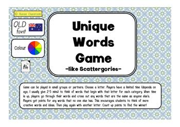 Creative Language Game