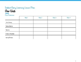 Creative Lesson Plan Template–Extended