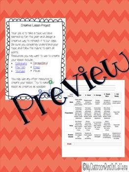Creative Lesson Project
