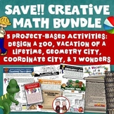 End of Year Creative Math Activities Bundle