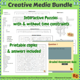 Creative Media Production Bundle of 6 Interactive Word Searches