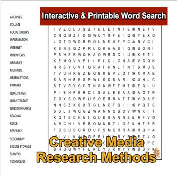 Creative Media Production Level 2 Unit 1 LO1 Interactive Word Search