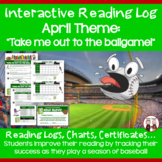 April Reading Log Baseball Theme
