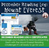 FREE Creative Monthly Elementary Reading Log for December