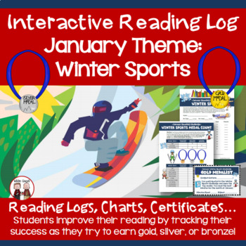 January Reading Log Winter Sports Theme