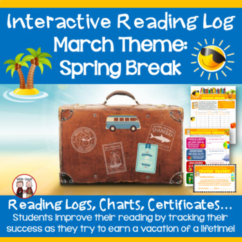 March Reading Log Spring Break Vacation Theme