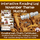 November Reading Log Mud Run Theme