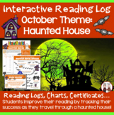 October Reading Log Haunted House Theme