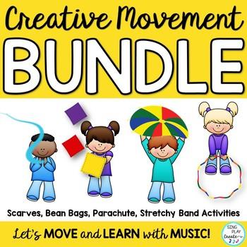 Creative Movement Activities Bundle: Bands, Scarves, Parachutes, Bean Bags