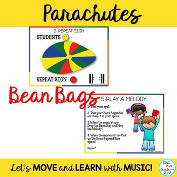 Creative Movement Activities Bundle: Bands, Scarves, Parachutes, Bean Bags