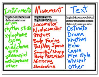 Creative Movement Assignment