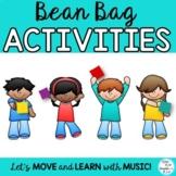 Creative Movement Bean Bag Activities - Music, PE, Movemen